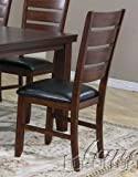 Set of 2 Dining Chairs in Cherry Finish For Sale