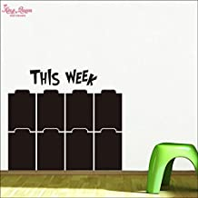 2016 NEW This Week Chalkboard Decal , Week Calendar Blackboard Stickers , Week Planner Black Board Vinyl Wall Decor - Wtitting Wallpaper