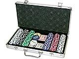 Da Vinci Premium 300 11.5 gram Striped Poker Chip Set w/3 Dealer Buttons, 2 Decks of Cards, & Case