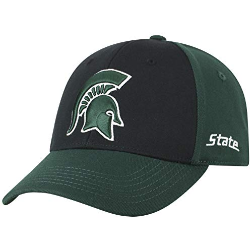 - Top of the World NCAA-Premium Two Tone-One-Fit-Memory Fit-Hat Cap-Michigan State Spartans