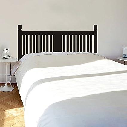 Amazon.com: Wooden Slate Headboard Wall Decal Headboard Dorm Decor ...