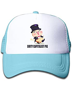 Dirty Capitalist Pig Baby Unisex Cool Adjustable Baseball Trucker Hat
