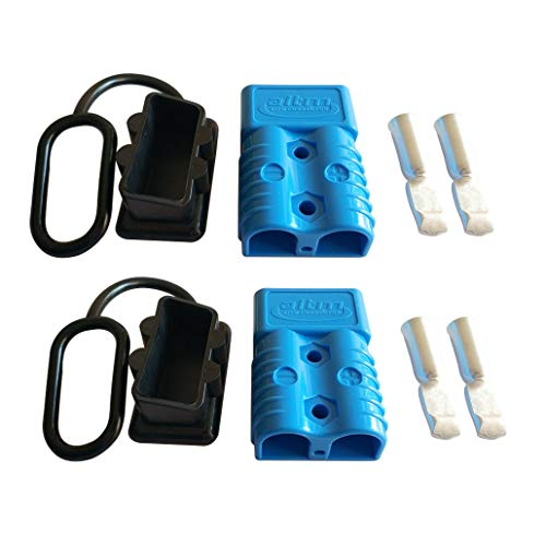 175A Battery Connector AWG 1/0 Quick Connect Battery Modular Power Connectors Quick Disconnect (Blue)