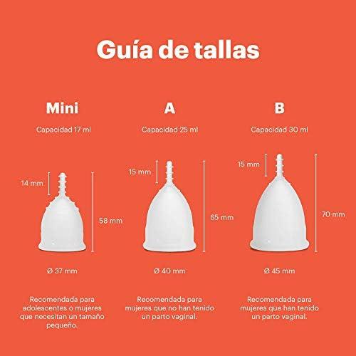Copa menstrual OrganiCup - Talla Mini - Ganadora del los AllergyAwards 2019 - Aprobada por la FDA - Silicona suave, flexibe y reutilizable de grado ...