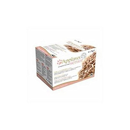 delicate Applaws Cat Food Tin Senior Multipack 6 x 70g (420g) (Pack of 2)