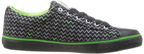 Visione Street Wear Donna Tela Lo Sneaker Nero / Lime