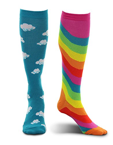 Happy Little Cloud Costumes - Knee High Rainbow and Cloud Mismatched