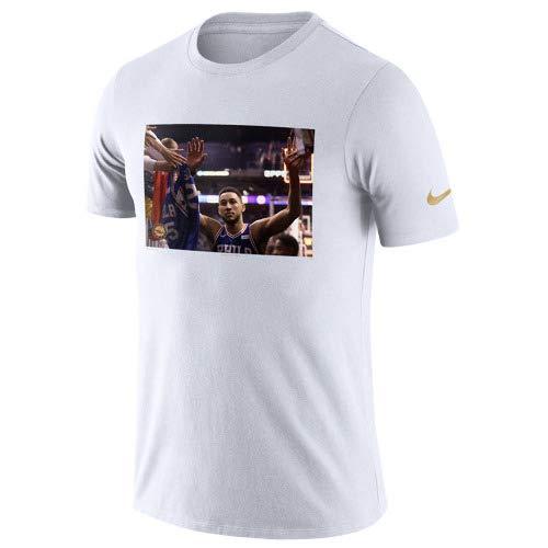 Nike(ナイキ) ベンシモンズ 半袖 スターフォト リール (ホワイト) Small  B07HP116PG
