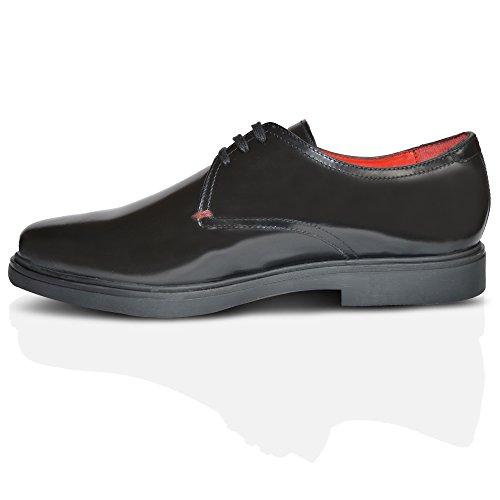 XelayBase London Cell - Zapatos Planos con Cordones hombre negro