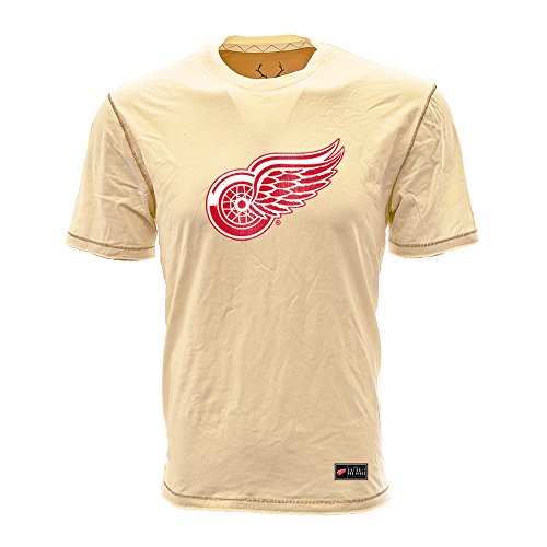 (Levelwear LEY9R NHL Detroit Red Wings Adult Men Harbor Harbour Jock Tag Tee, Large, Silk White)