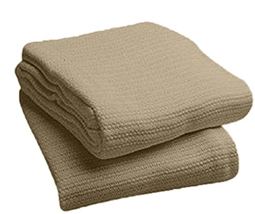 Price comparison product image Deluxe 100% Cotton TWIN Thermal Blanket, SAND