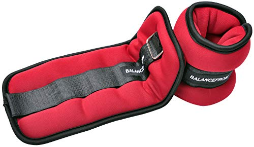 BalanceFrom GoFit Fully Adjustable Ankle Wrist Arm Leg Weights, Pair