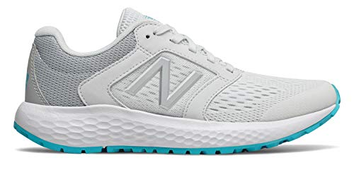 - New Balance Women's 520v5 Cushioning Running Shoe, Artic Fox/Light Aluminum, 8 W US