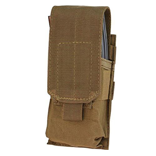 Single M16 (Condor Single 5.56 Modular Magazine Mag Pouch - Coyote - MA5-498 - New)