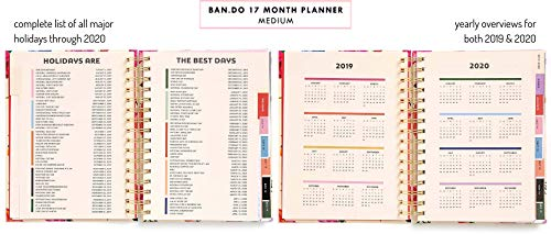 Ban do 17 Month 2019-2020 Medium Daily Planner with Weekly & Monthly Views,  8