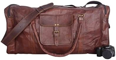 Vintage Leather Bazaar Duffle Bag Leather Gym Bag Leather Travel Bag Leather Luggage Leather Weekender Bag 18 Inch