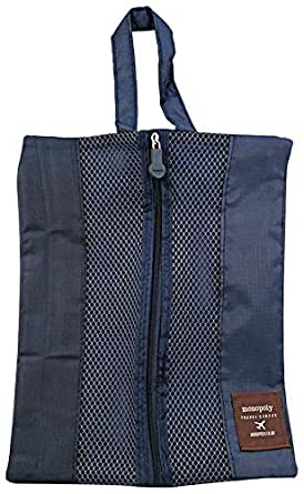 Monopoly 2 Way Travel Pouch for Unisex - Nylon, Blue