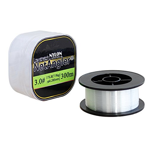 Cheap NetAngler Monofilament Fishing Line Superior Clear Nylon Abrasion Resistant Mono Line