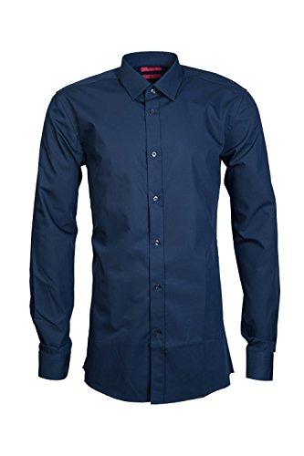84631b60a HUGO BOSS Mens Smart Shirt Elisha 01 50372533 Size 42 Blue | Cheap ...
