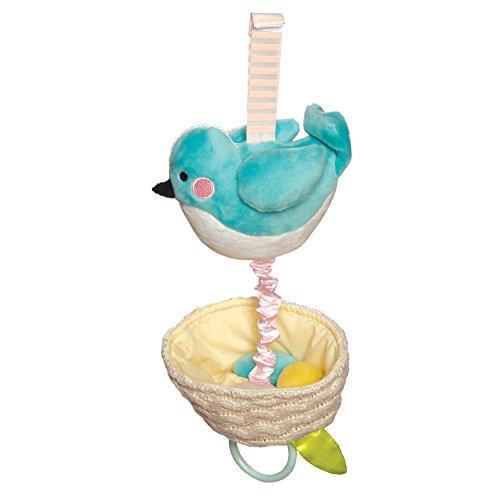 Manhattan Toy Lullaby Bird Pull Musical Crib and Baby (Nest Baby Crib)
