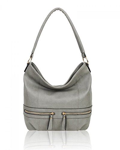 Grey Dark Bag Women's Quality Handbags Leather Soft Shoulder 17003 Holiday For LeahWard Women Large Faux wpqnI6nOS