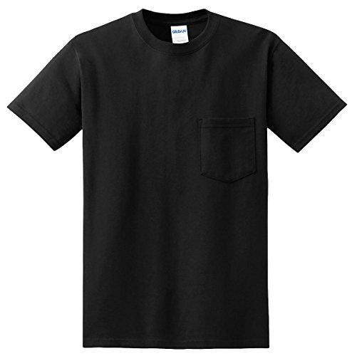 Gildan mens DryBlend 5.6 oz. 50/50 Pocket (50% Polyester Pocket T-shirt)