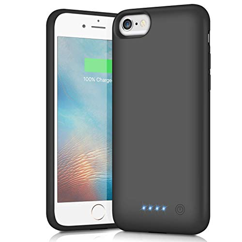 Pxwaxpy Battery Case for iPhone 7/8/6/6S, Upgraded [6000mAh] Protective Portable Charging Case Rechargeable Extended Battery Pack Charger Case for iPhone 7/8/6/6S (4.7 inch) Backup Power Cover