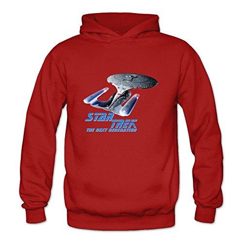 Crystal Women's Star Trek The Next Generation Long Sleeve T Shirt Red US Size L