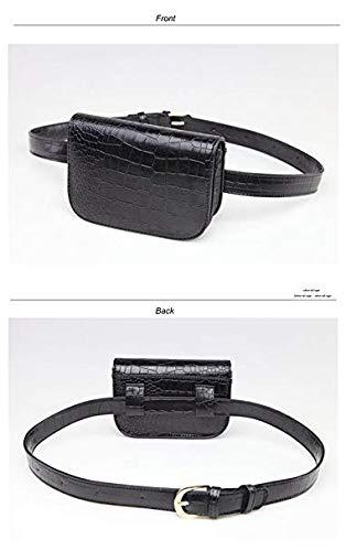 5d9a36ec6d5f Amazon.com: crayfomo Leather Fanny Packs Women's Fashion Mini Waist ...