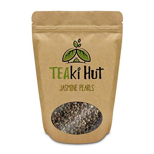 TEAki Hut Organic Jasmine Pearl Green Tea (2 oz Size) | Loose Leaf Tea