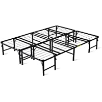intelliDREAM 14 Quad-Fold Metal Platform Bed Frame, Instant Set Up, 2 Piece, Queen