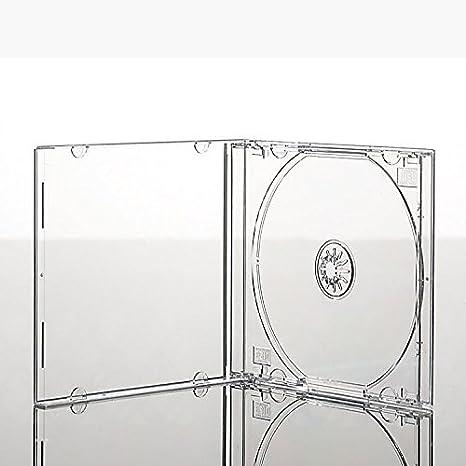 25 x CD con cajas Premium de cajas de bandeja transparente (10 mm ...