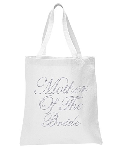 Varsany White Mother Of The Bride Luxury Crystal Bride Tote bag wedding party gift bag (Crystal Tote)