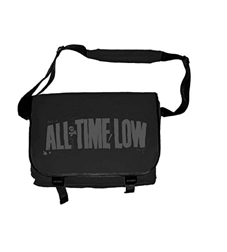 All Time Low Bianco Distressed Logo ufficiale Nuovo Nero Messenger Bag