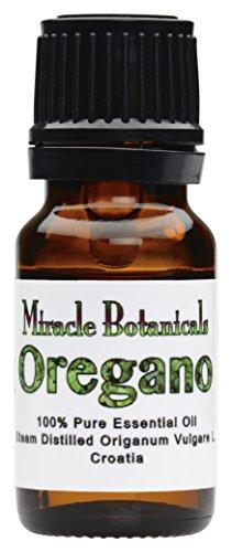 Miracle Botanicals Oregano Essential Oil - 100% Pure Origanum Vulgare L. - 10ml or 30ml Sizes - Therapeutic Grade - 10ml