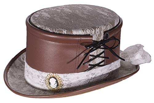 Adult Faux Leather Lace Hat Accessory ()