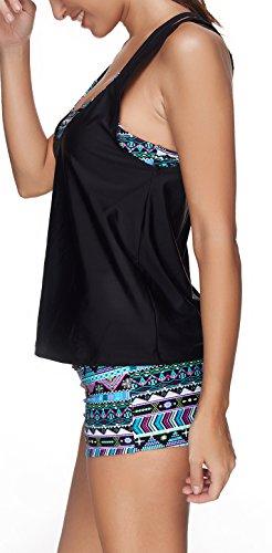 Donna Modellante Tankini Piscina Bagno push up Tre Costume pezzi Beachwear Dimagrante da Costume Mare Leslady e mare q4fwaIxw8