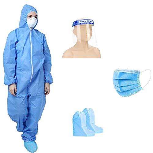 GOHNA-Personal-Protective-Equipment-Kit-PPE-KitDisposable-Full-Dress-Blue-Product