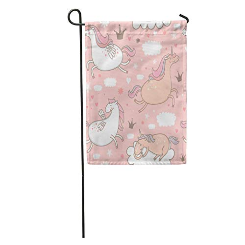 - Nfuquyamluggage Garden Flag Colorful Pattern Cute Unicorns and Pegasus in The Clouds Abstract Home Yard House Decor Barnner Outdoor Stand 12x18 Inches Flag