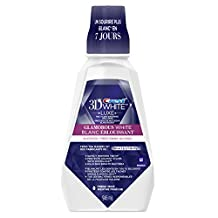 Crest 3D White Glamorous White Mouthwash, 946 ml