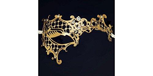 Gold Phantom of the Opera Masquerade Masks Laser Cut Metal Venetian Mask by Yacanna ()