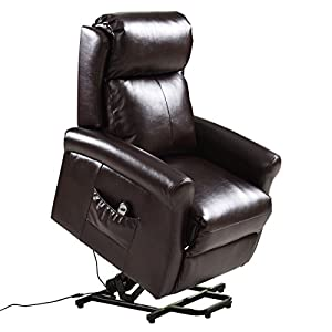 Sofa Chair Electric Power Lift Recliners Remote Living Room Furniture Brown