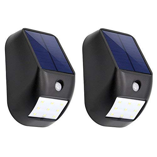 Solar Powered Night Light, SCOPOW 9 LED Outdoor Solar Energy Power Wireless 3 Mode Weatherproof Security Light Motion Sensor Lighting for Patio Deck Yard Garden Driveway Wall (2)