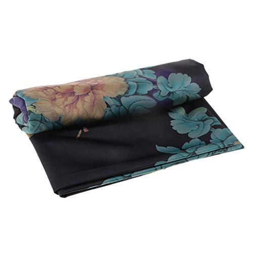 D DOLITY ヴィンテージ 牡丹 花柄 人工絹 布 生地 cheongsams、着物ガードル 全2色2サイズ - 青 0.5mの商品画像
