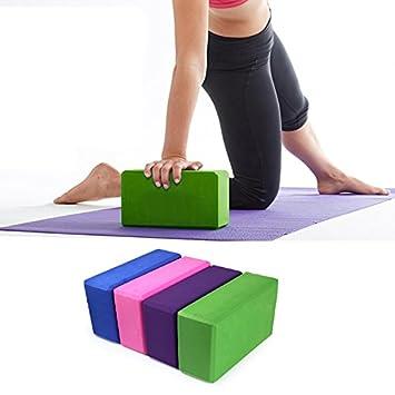 2aca2c045b75a TecGeo(TM) 4 Colors Pilates EVA Yoga Block Brick Sports Exercise Gym Foam  Workout Stretching Aid Body Shaping Health Training