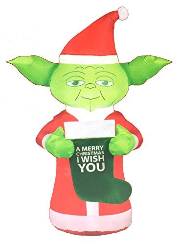 Star Wars 5ft Yoda Christmas Airblown Inflatable with LED Lights -