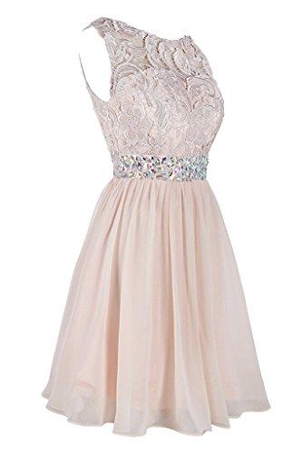 Kurz Spitze Ballkleider Steine Hochwertig Bildfarbe Ivydressing Damen Brautjungfernkleid Abendkleider nWxEnBO1