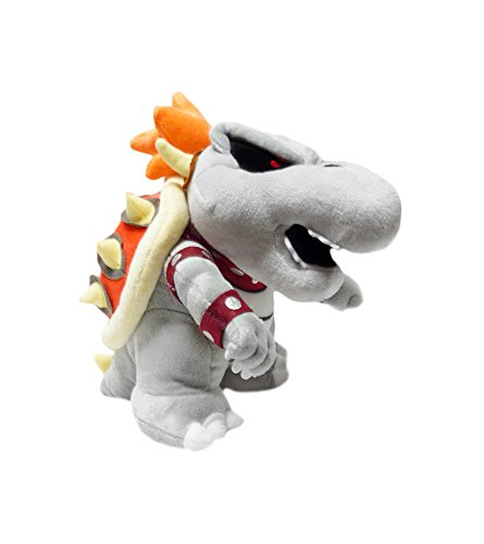 Mario Bro: Dry Bone Grey Bowser Koopa 10-inch Plush ()