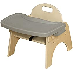 "Wood Designs Stackable Woodie Toddler Chair with Adjustable Tray, 7"" High Seat"