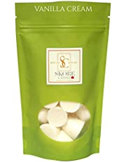 Vanilla Cream Scented Soy DOTS - Made in Canada by Skore Candle -Now in a Rice Paper Pouches reducing plastic waste-100% pure natural soy wax-21 Aromatherapy Dots Create beautiful scents in any of your rooms while reducing odors. Use in your favourite wax warmer
